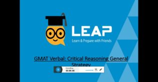 QS-LEAP Lessons | GMAT CR | General Strategy & Question Types