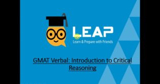 QS-LEAP Lessons |  Introduction to GMAT Critical Reasoning