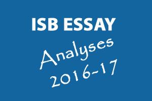 ISB Application Essay Analysis 2016-17